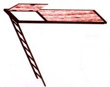 строительные леса + лестница